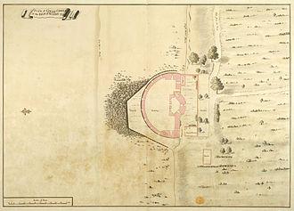 Cowes Castle - 1725 plan of the castle
