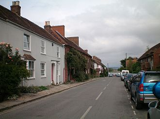 West Itchenor - View of The Street, leading to the harbour
