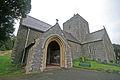 West and and porch, St Padarn's church, Llanbadarn Fawr, Ceredigion.jpg