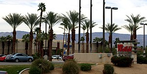 Westfield Palm Desert - View of the mall as seen from CA SR 111