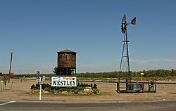 A scene in Westley, California