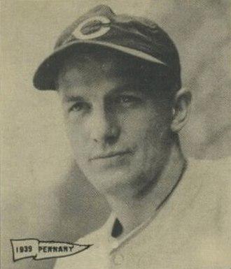Whitey Moore - Image: Whitey Moore 1940 Play Ball card