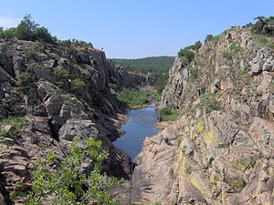 Southwestern Oklahoma - A canyon in the Wichita Mountains near Lawton.
