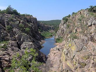 Southwestern Oklahoma - A canyon in the Wichita Mountains near Lawton.