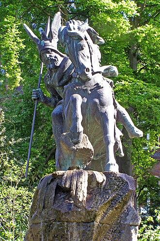 Widukind - Modern statue of Widukind in Herford, North Rhine-Westphalia