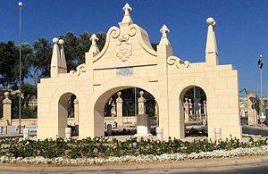 Wignacourt Arch - Birkirkara-facing side of the arch