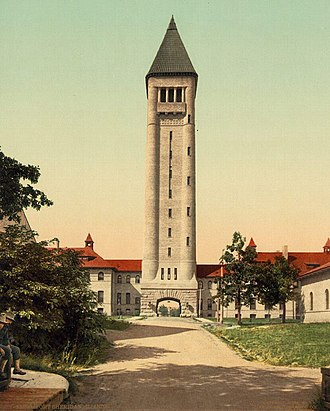 Sheridan Reserve Center - Fort Sheridan water tower and barracks complex