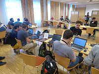 Wikimedia Hackathon Vienna 2017 attendees 02.jpg
