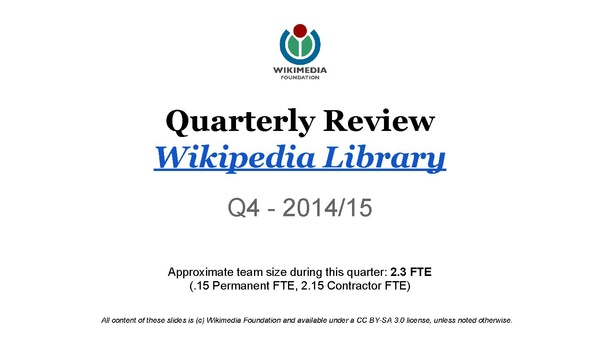 Wikipedia Library QR Slides – Q4 2014–15