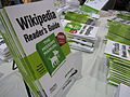 Wikipedia books at Maker Faire 2008.jpg