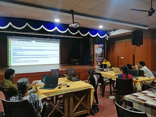 Wikisource and Wikidata training for Sanskrit Wikimedians- day 1.1.jpg