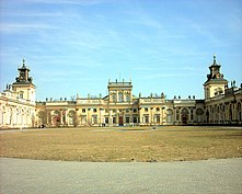 Wilanów Palace in Warsaw (1677), represents a modest type of Baroque residence.