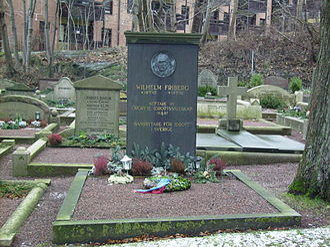 Wilhelm Friberg - Wilhelm Fribergs grave at Örgryte nya kyrkogård in Gothenburg.