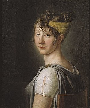 Wilhelmina Krafft - portrait by Per Krafft the Younger