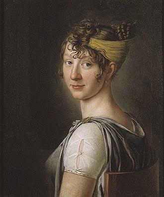 Wilhelmina Krafft - portrait by Per Krafft the Younger