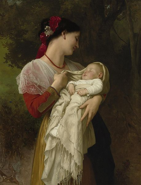 https://upload.wikimedia.org/wikipedia/commons/thumb/1/1e/William-Adolphe_Bouguereau_%281825-1905%29_-_Maternal_Admiration_%281869%29.jpg/458px-William-Adolphe_Bouguereau_%281825-1905%29_-_Maternal_Admiration_%281869%29.jpg