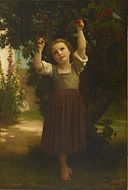 William-Adolphe Bouguereau - The Cherry Picker - Walters 372780 - Front Before Treatment.jpg