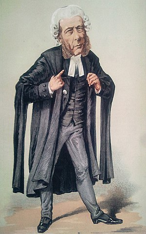 Court dress - Caricature of a QC in court dress