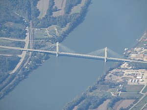 William H. Harsha Bridge - Aerial view of the bridge
