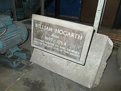 Photo of William Hogarth bronze plaque