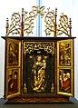 Winged altarpiece, from the Hauskapelle des Nurnberger Anwesens zum Goldenen Schild, Nuremberg, 1501, limewood sculpture, pine - Germanisches Nationalmuseum - Nuremberg, Germany - DSC03246.jpg
