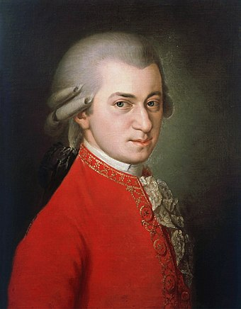 Mozart was born in Salzburg, capital of the Archbishopric of Salzburg, a former ecclesiastical principality in what is now Austria, then part of the Holy Roman Empire of the German Nation Wolfgang-amadeus-mozart 1.jpg