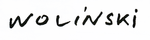 Signature of Georges Wolinski