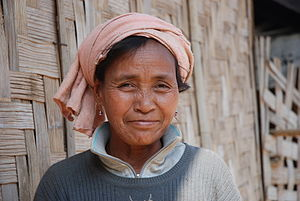 Women in Laos - Khmu woman in village Ban Huay fay, region Luang Prabang, Laos
