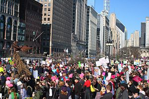 First 100 days of Donald Trump's presidency - The 2017 Women's March in Chicago