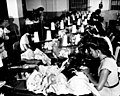 Women making brassieres at the Jem Manufacturing Corp. in Puerto Rico, March 1950 (5278934055).jpg