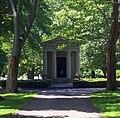 Woodward Mausoleum at Machpelah Cemetery, Le Roy, NY.jpg