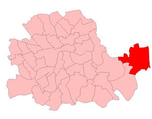 Woolwich East (UK Parliament constituency) - Woolwich East in the County of London 1950-74