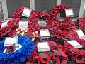 Wreaths at Wetherby war memorial (23rd November 2018) 002.jpg