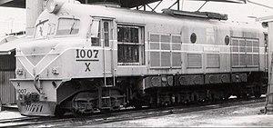 WAGR X class - X1007 in Bunbury