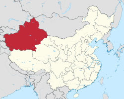 Xinjiang in China (de-facto).svg