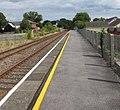 Yellow line along platform 2 at Clunderwen railway station - geograph.org.uk - 4614806.jpg