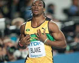 Yohan Blake ai Mondiali di Taegu 2011