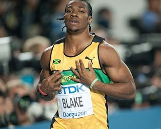 2011 World Championships in Athletics - Yohan Blake of Jamaica, winner of the men's 100 metres