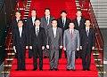 Yoshihiko Noda Osamu Fujimura Tsuyoshi Saito Hiroyuki Nagahama Makoto Taketoshi and Special Advisors to the Prime Minister 20110905.jpg