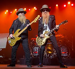 ZZ Top performing in San Antonio, Texas 2015.jpg