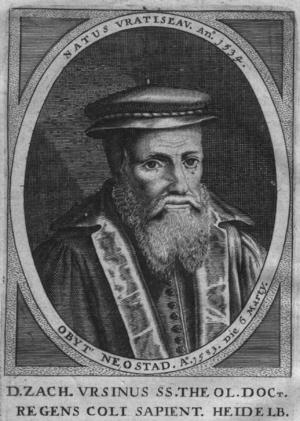 Zacharias Ursinus - Image: Zacharias Ursinus