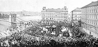 Czech National Revival - Ceremonial laying of the foundation stone of the National Theatre, 1868