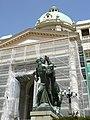 Zgrada Narodne skupštine u Beogradu - skulpture na ulasku u objekat 3.JPG