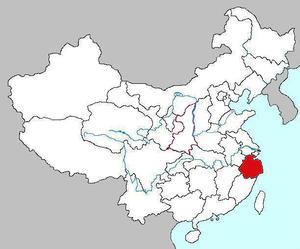 Maps of Zhejiang Province of China