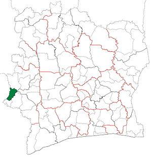 Zouan-Hounien Department - Image: Zouan Hounien Department locator map Côte d'Ivoire