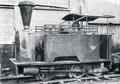 'Coffee Pot' Kerr Stuart 3ft gauge 0-4-0T locomotive (No. 643 of 1898) at Powelltown c.1937 (Photo JCM Rolland).png