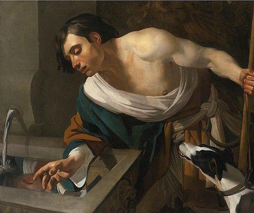 'Narcissus Gazing at His Reflection' by Dirck van Baburen