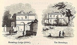 John Scott Lillie - 'the Hermitage' and Lodge c. 1840
