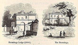 John Scott Lillie - 'the Hermitage' and Lodge c. 1840