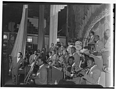 (Portrait of Duke Ellington, Ray Nance, Tricky Sam Nanton(?), Johnny Hodges(?), Ben Webster(?), Otto Toby Hardwick(e), Harry Carney, Rex William Stewart, Juan Tizol, Lawrence Brown, Fred Guy(?), and (4843127483).jpg